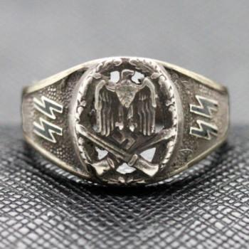 German ss ring WW2 NSDAP sterling silver