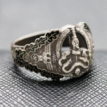 German ring ANTI PARTISAN Badge Silver