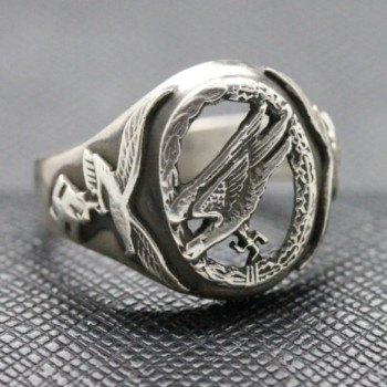 German ss ring WW2 Luftwaffe Paratroopers silver