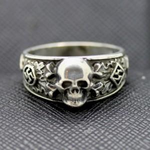 SS Ring totenkopf runes inside