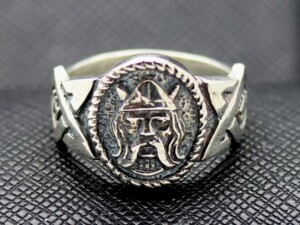 German ss viking silver ring