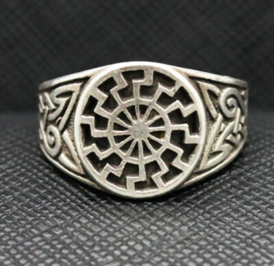 German ring black sun Schwarze Sonne