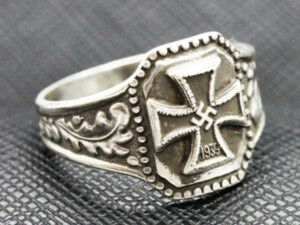 German ring nazi iron cross 1939 silver ring
