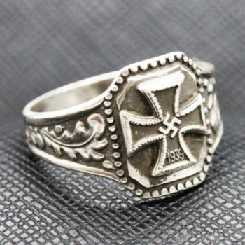 German ring nazi iron cross 1939 silver ring