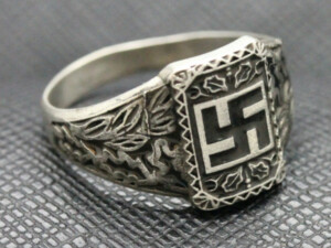 German ss ring nazi swastika silver
