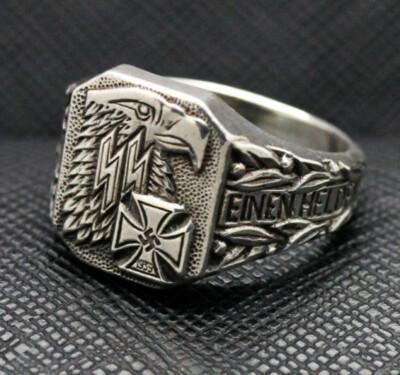 German ss ring iron cross eagel