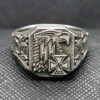 German ss ring iron cross eagel
