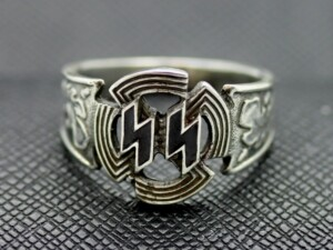 German ss rings ww2 silver