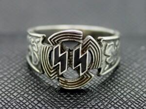 German ss rings ww2 silver