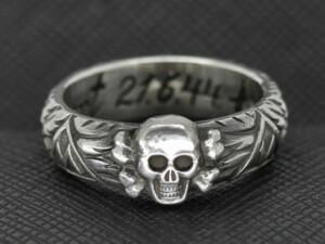 SS TOTENKOPF Ring silver Borchert