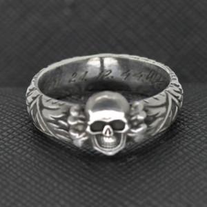 SS TOTENKOPF Ring silver skull Himmler
