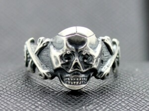 German ss silver ring Skull and Bones
