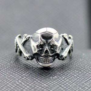 German ss silver ring Skull and Bones