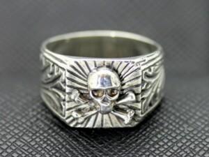 German ring Totenkopf skull military