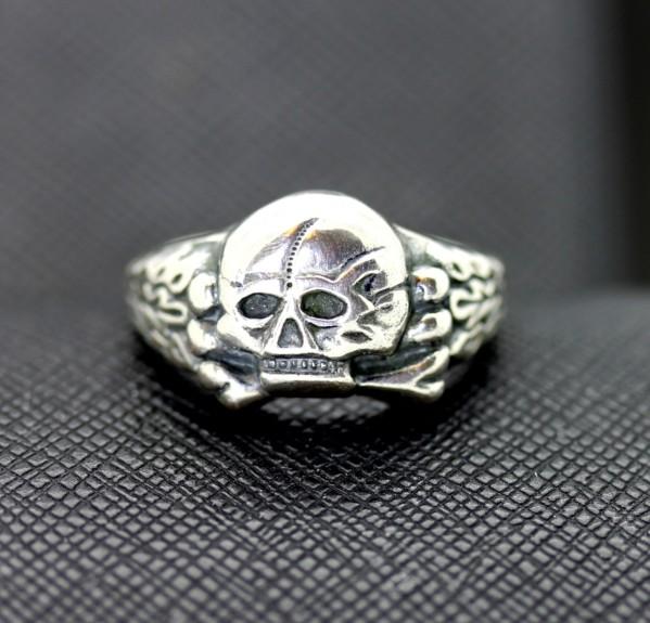 WW2 German Waffen Ss Panzer Officers Skull Ring