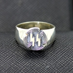 WW2 German ss SPORTS BADGE silver ring
