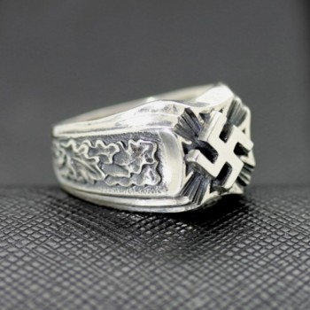 WW2 German ring swastika symbol oakleaf