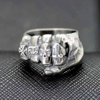 german ring totenkopf iron cross skull sa ring fist