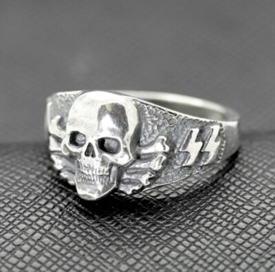 SS Death Head ring German rings German skull ring Totenkopf