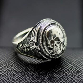 WW II SS Death Head ring German rings skull ring
