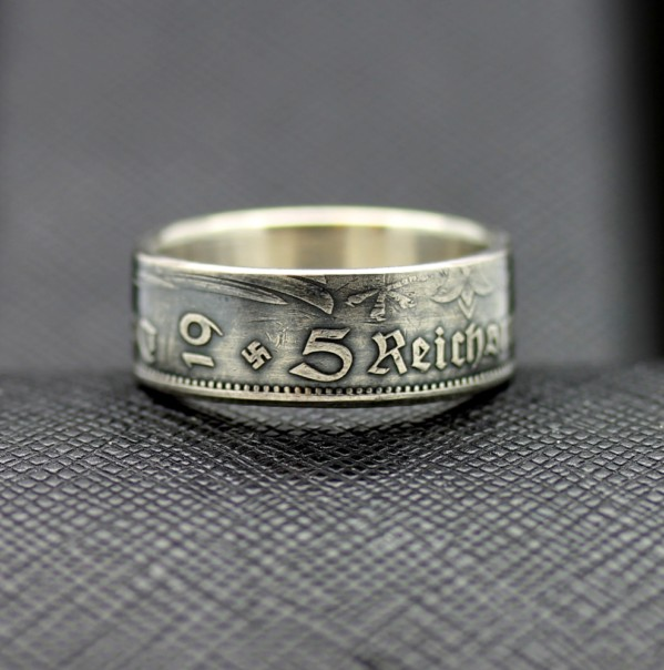 German Coin Ring 1935 Year 5 Reichsmark Antiq24
