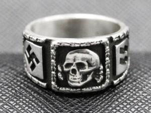 SS totenkopf ring german nazi ring silver
