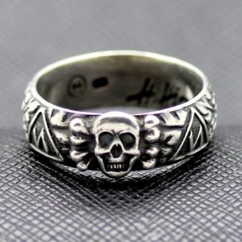 SS TOTENKOPF Ring waffen ss runas skull smile
