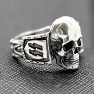 SS Death Head ring German rings German skull ring swastika
