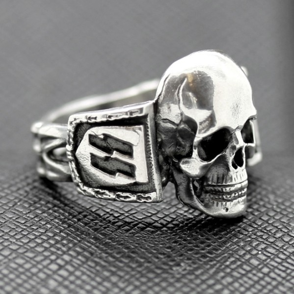 SS Death Head Ring German Rings Skull Swastika