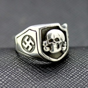 WWII SS Death Head ring German rings German skull ring swastika