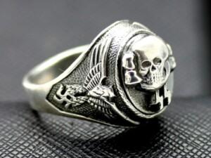 WWII SS Death Head ring German rings skull waffen totenkopf