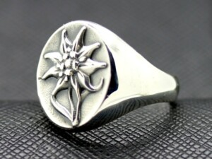 German ring edelweiss alpen rose division ss military