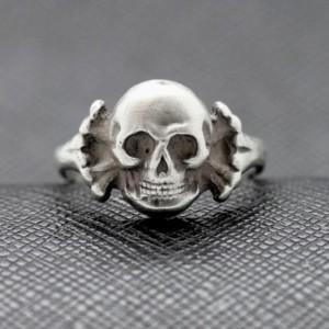German rings totenkopf WWII SS silver skull