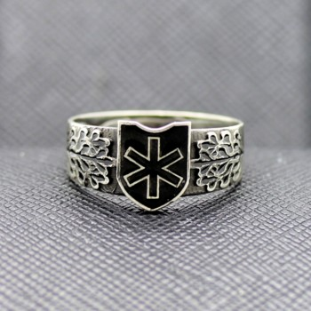 German ring 6th SS Mountain Division Nord hagal rune