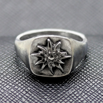German ring ss edelweiss alpen rose military division