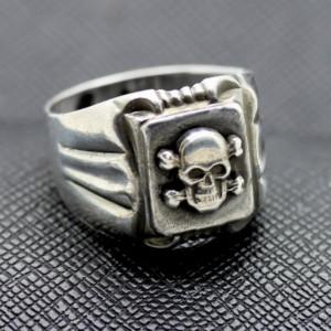 GERMAN SS RING TOTENKOPF RING silver skull