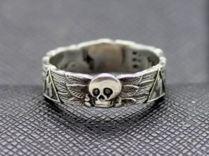 SS TOTENKOPF german Ring silver skull