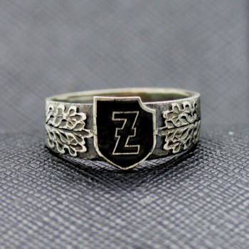 German ss ring Elite unit ss waffen wolf hook rune polizai