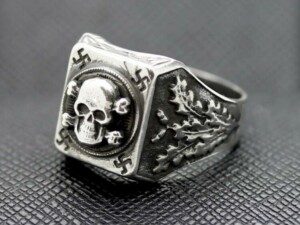 GERMAN SS RING TOTENKOPF RING silver skull II
