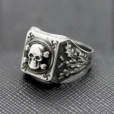 GERMAN SS RING TOTENKOPF RING silver skull II