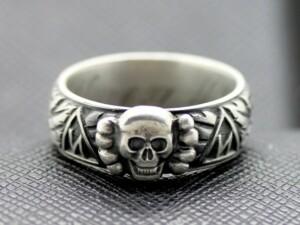 SS TOTENKOPF german Ring silver rune