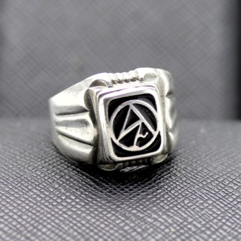 German Ring SS WWII NSDAP silver