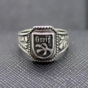 German Ring SS Greif silver