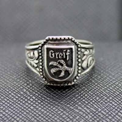 German Ring SS Greif silver