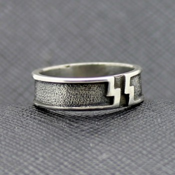 German WW2 SS Panzer Division silver ring