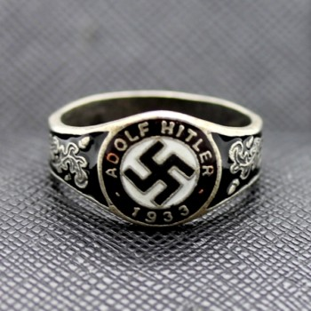 German WW2 Adolf Hitler 1933 Sterling Silver Ring Nazi