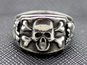 TOTENKOPF SS RING GERMAN WW2 SILVER