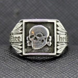 SS TOTENKOPF Ring silver skull