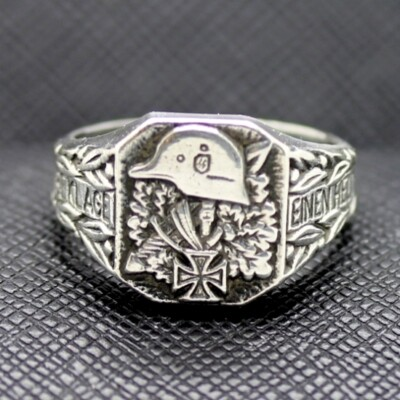 WW II German SS silver military ring