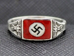 WW2 German NSDAP sterling silver ring